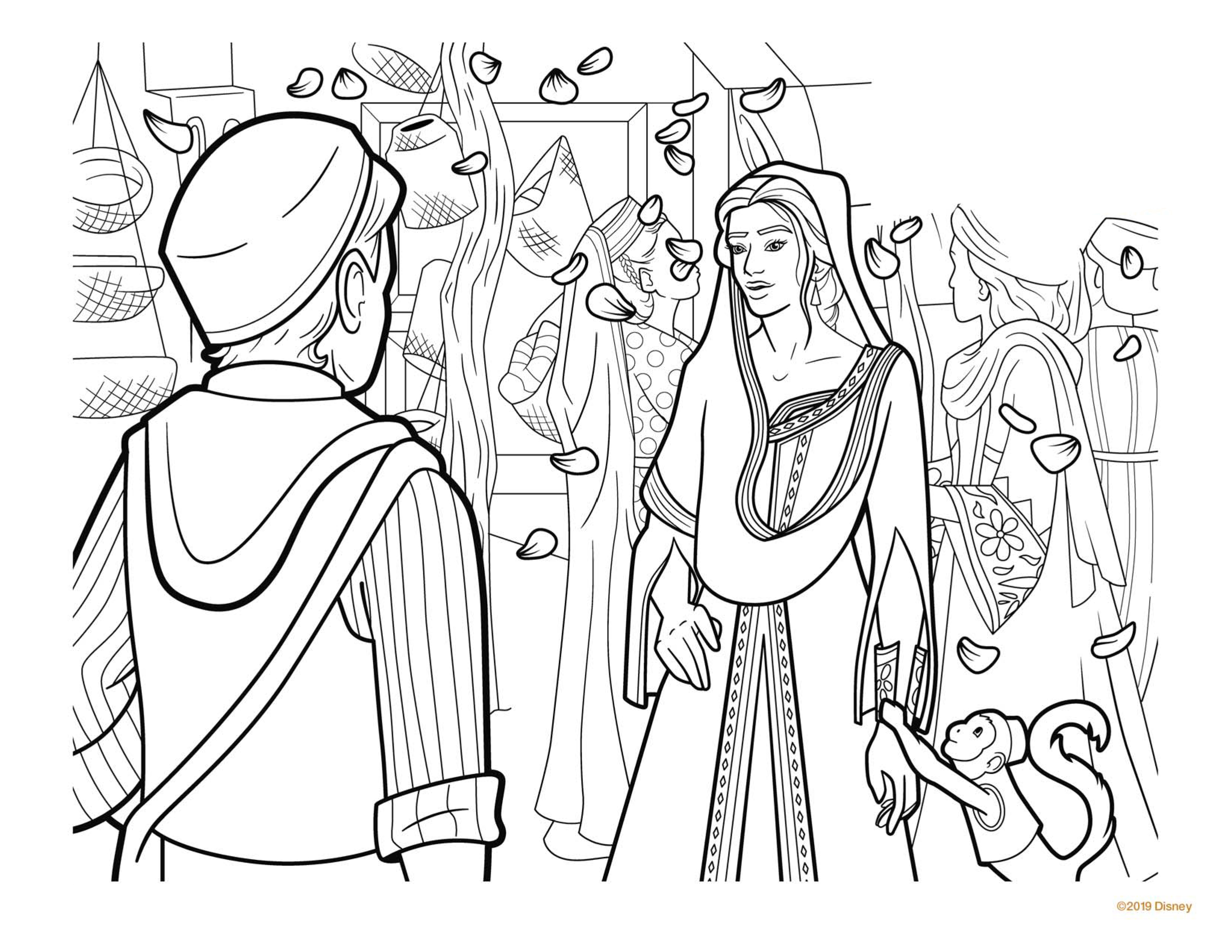 Aladdin 2019 Coloring Page Coloring Page