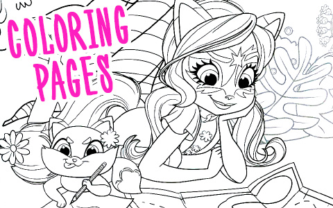 Enchantimals new coloring pages