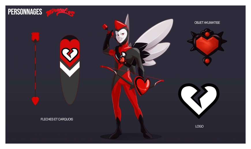 New concept art for Miraculous Ladybug series, Akumatized villains and improved promo art
