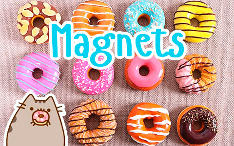 Cutest fridge magnets ever in the form of yummy and realistic donuts