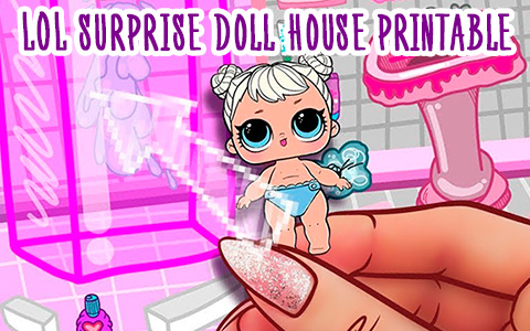 LOL Surprise printable paper house for paper dolls - Print and Play