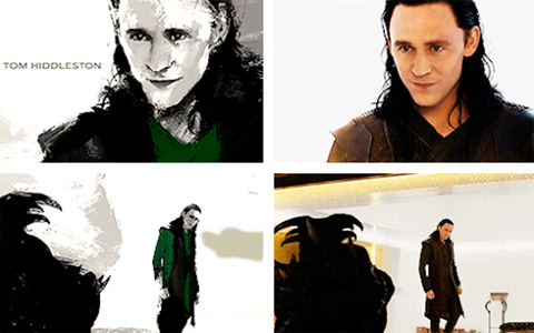 Loki in Thor: The Dark World and in the end titles