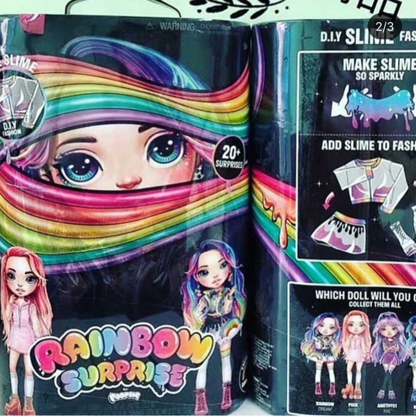 MGA Rainbow Surprise fashion doll diy slime fashion