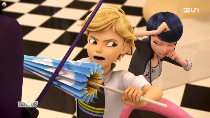 What happend in Miraculous Ladybug episode Puppeteer 2,  during that statue scene with Adrien and Marinette and what he said at the end