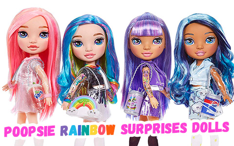 Poopsie Rainbow Surprise dolls with Slime fashion - New big stock images and links where to get them