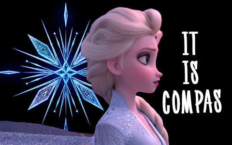 Snowflake of Frozen 2 movie is not snowflake, it's a most likely is vegvisir - runic compass