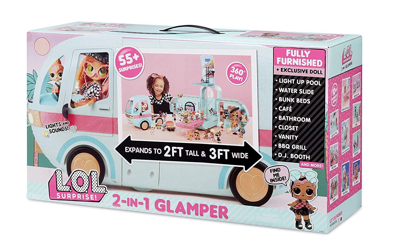 Surprise 2-in-1 Glamper Fashion Camper with 55 L.O.L Surprises