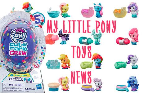 My Little Pony toys news: Cutie Mark Crew Confetti Party Countdown Pack,Cutie Mark Crew Sugar Sweet Rainbow,  series 5 Cutie Mark Crew blind pack figures and Rainbow Lights Seaponies
