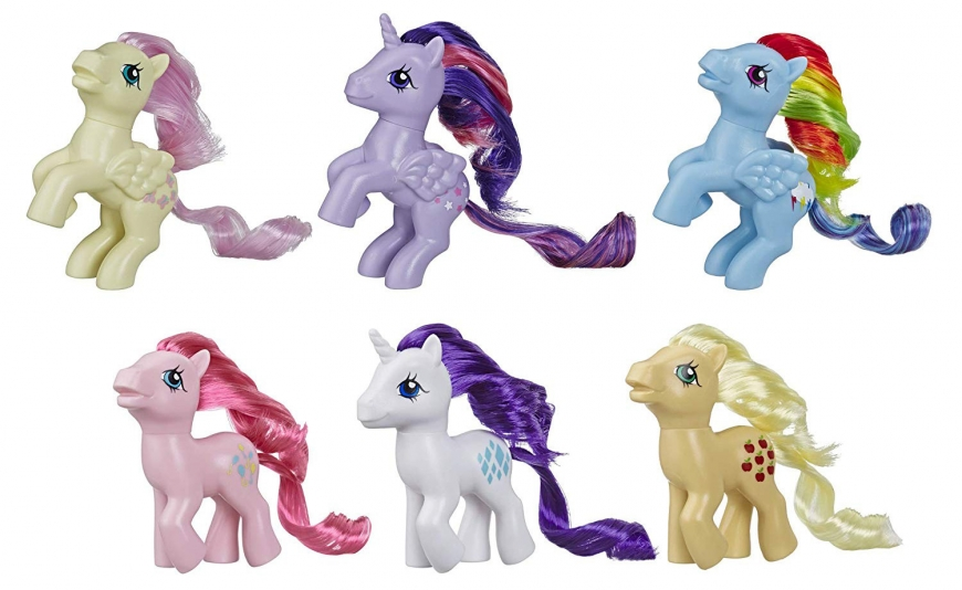 My Little Pony Retro Rainbow Mane 6,  80s-Inspired Collectable Figures