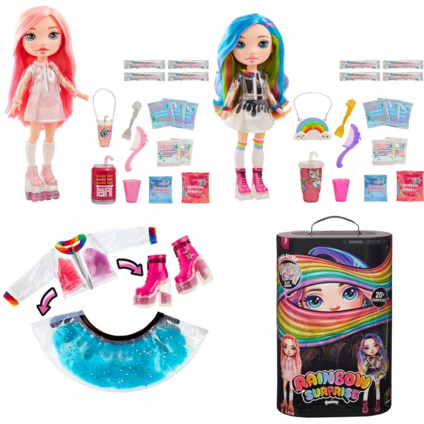 Rainbow Surprise  Slime Fashion dolls