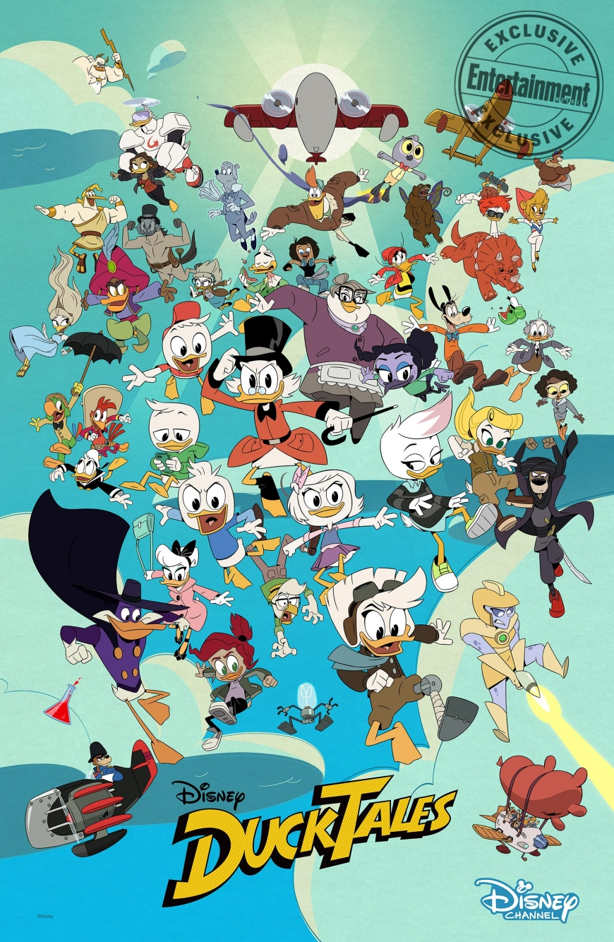 Ducktales all new characters in season 2 and 3 comic con