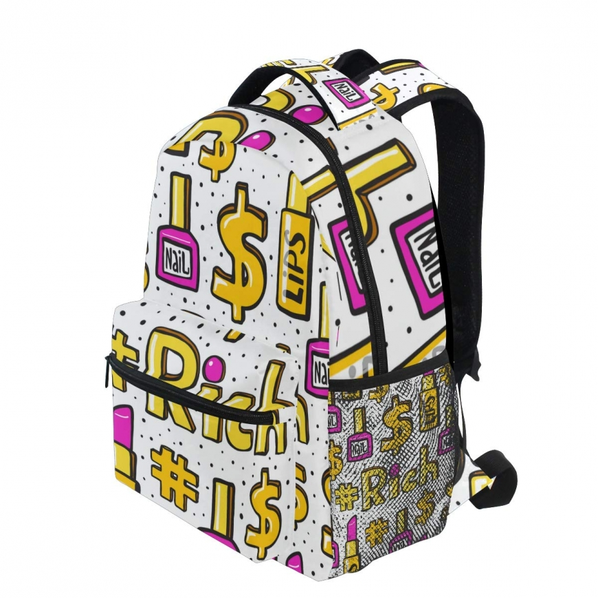 Backpack with dollar sign