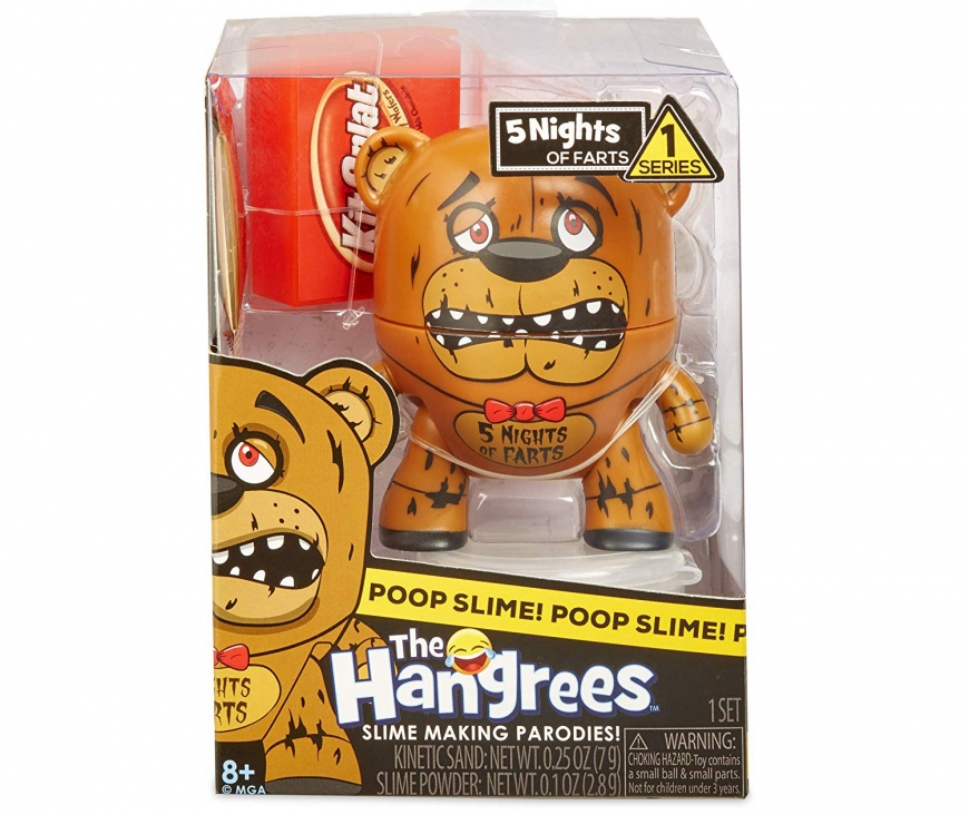 Hangrees The 5 Nights of Farts Collectible Parody Figure with Slime