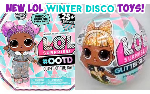 LOL Surprise Winter Disco - new winter dolls series with Advent calendar, LOL surprise winter disco glitter globe, LOL surprise winter disco Fluffy pets, Lils Sister, Bro and Winter Disco Chalet