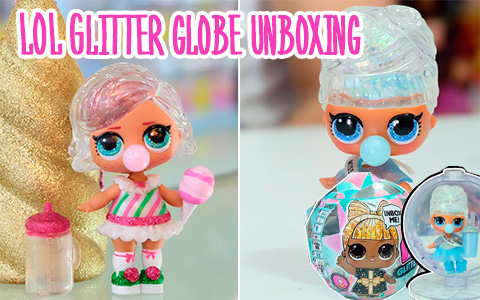 First unboxing video of new LOL Surprise Winter Disco Glitter Globe