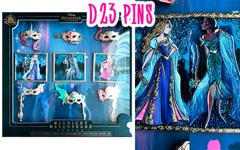 Disney Designer Collection: Midnight Masquerade Series LE D23 pins
