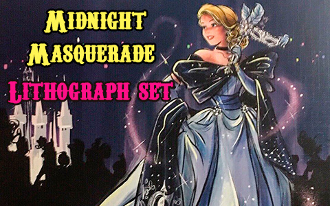 Disney Designer Collection Midnight Masquerade Series Lithograph set