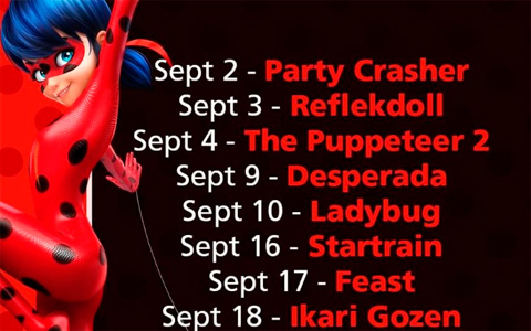 Premiere dates for Miraculous Ladybug season 3 Desperada, Reflekdoll in September