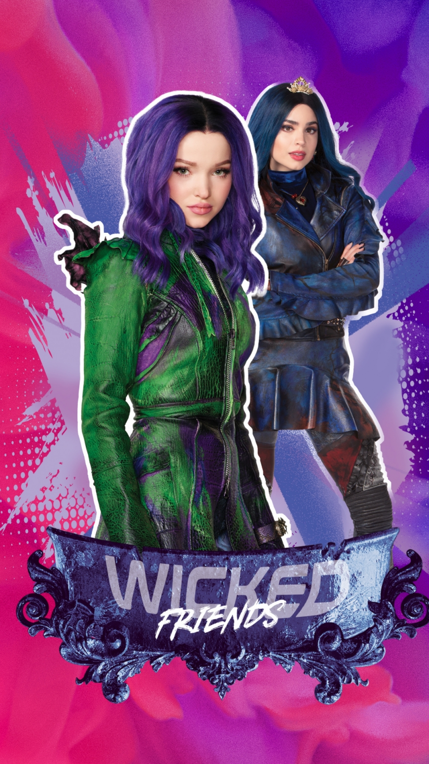 Disney Descendants 3 Mal and Evie best friends wallpaper