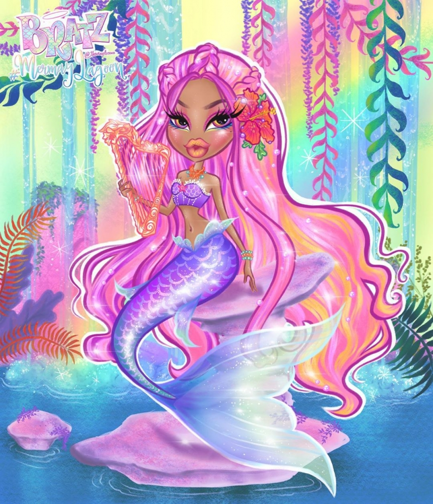 Bratz mermaid art Yasmin