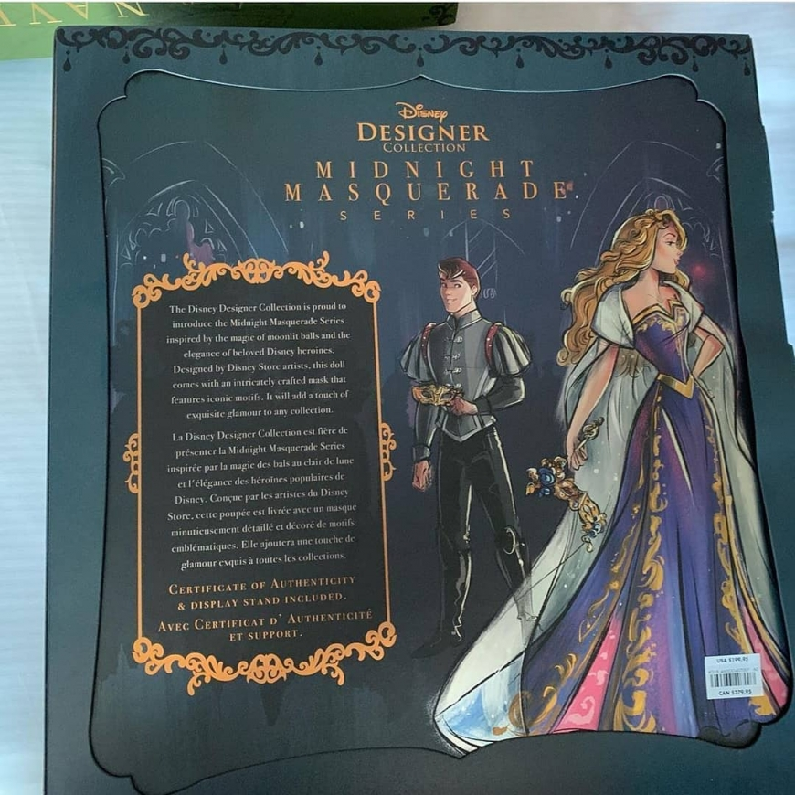 Disney Designer Midnight Masquerade Series Aurora and Phillip dolls box art