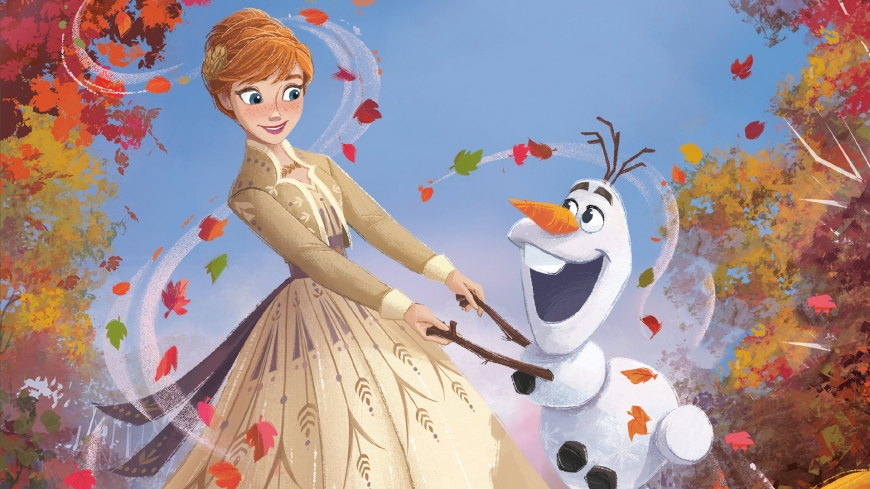 Frozen 2 wallpaper HD Anna and Olaf