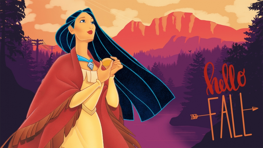 Hello Fall image with Pocahontas
