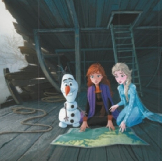 Elsa and Anna's parents' wrecked ship