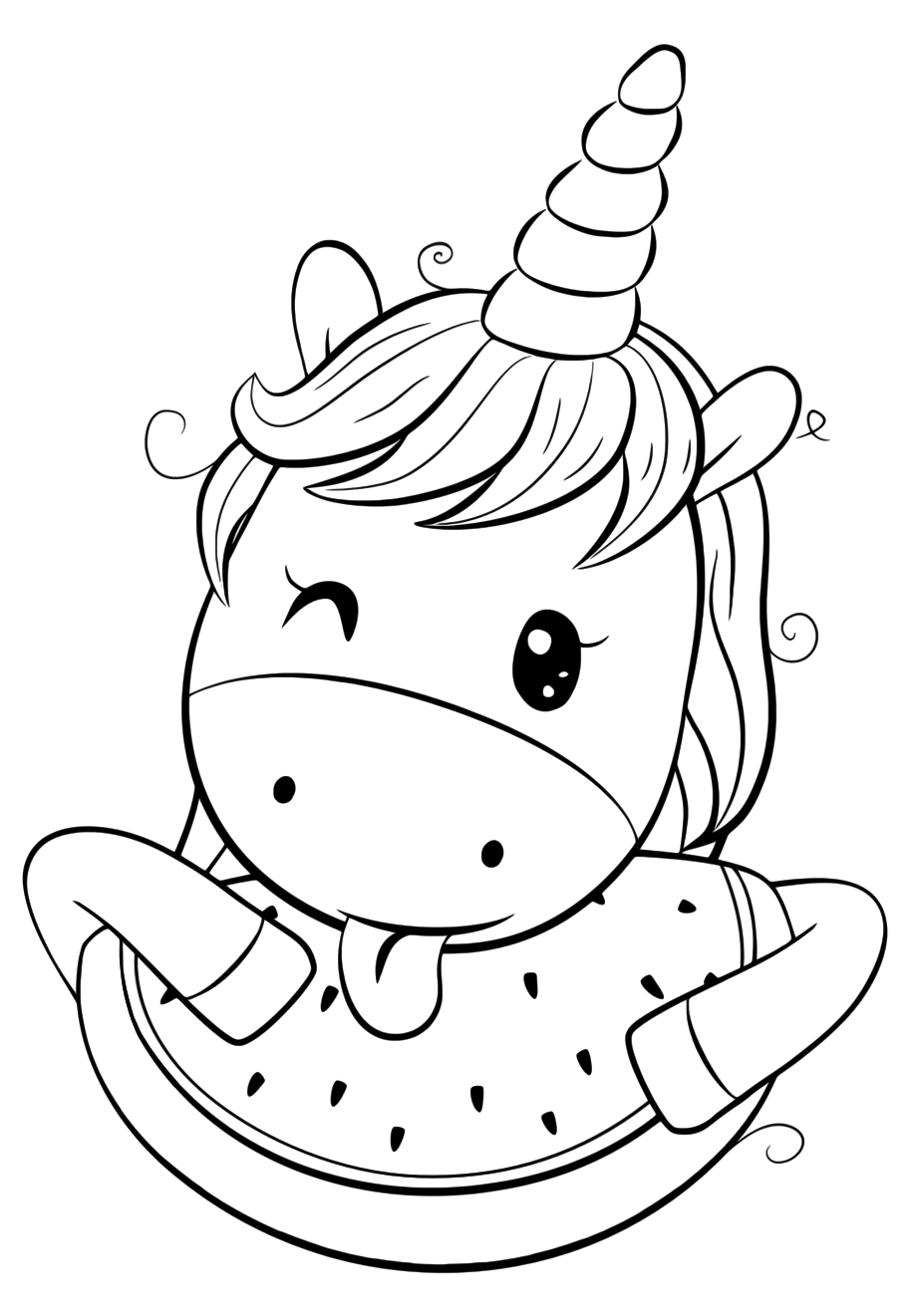 cute unicorn coloring pages - youloveit