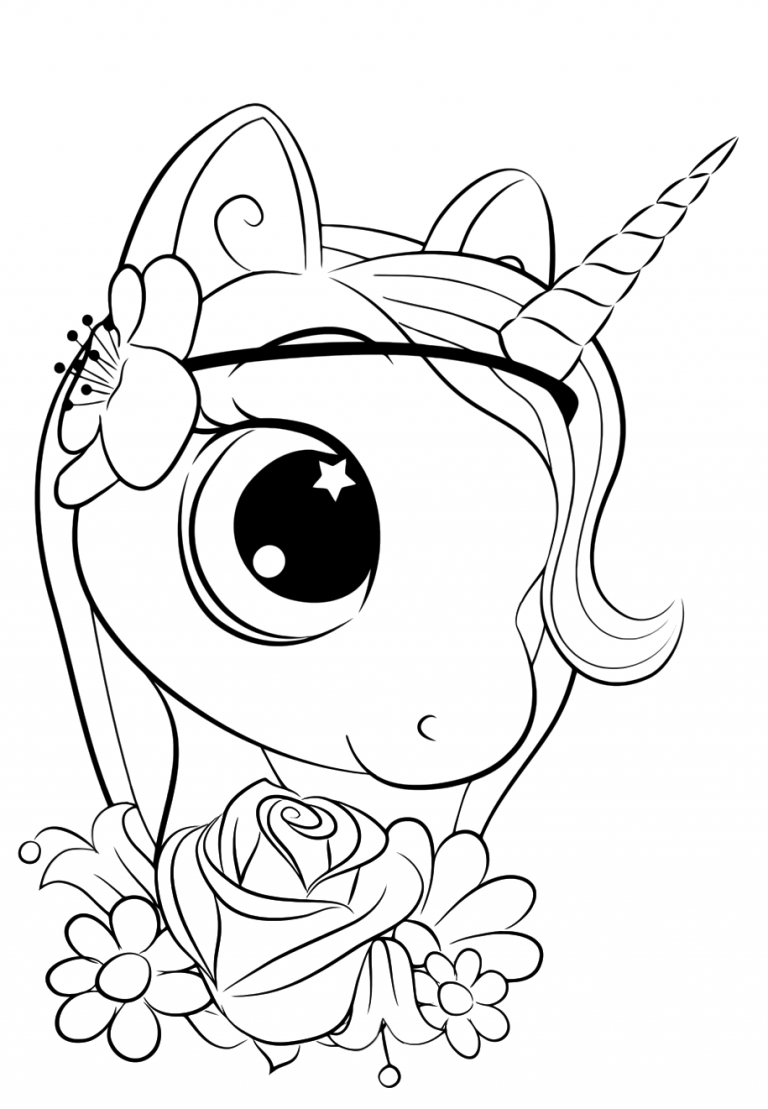 Cute unicorn coloring pages for kids