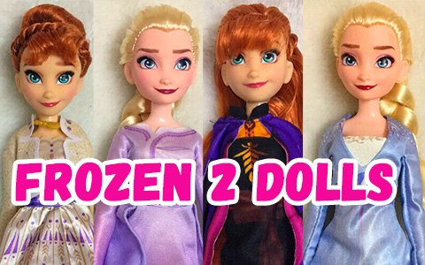 New images of the upcoming Elsa and Anna dolls from Frozen 2 movie