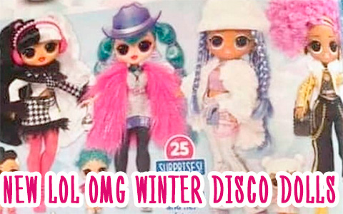 First image of 4 new LOL OMG Winter Disco dolls with sisters