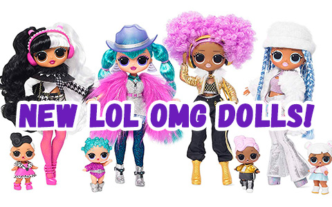Second wave of LOL OMG dolls are out! You finally can get your Winter Disco OMG fashion dolls - Dollie, Cosmic Nova, Snowwicious and 24 K D.J. with sister
