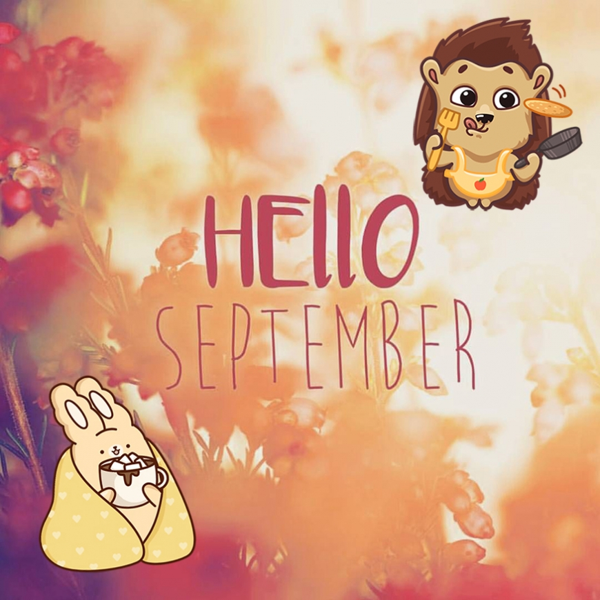 Hello september cute image