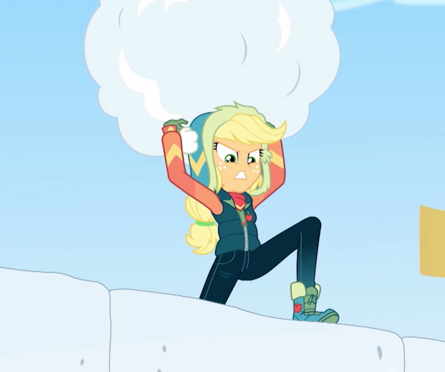Equestria Girls Holiday Unwrapped Applejack winter outfit