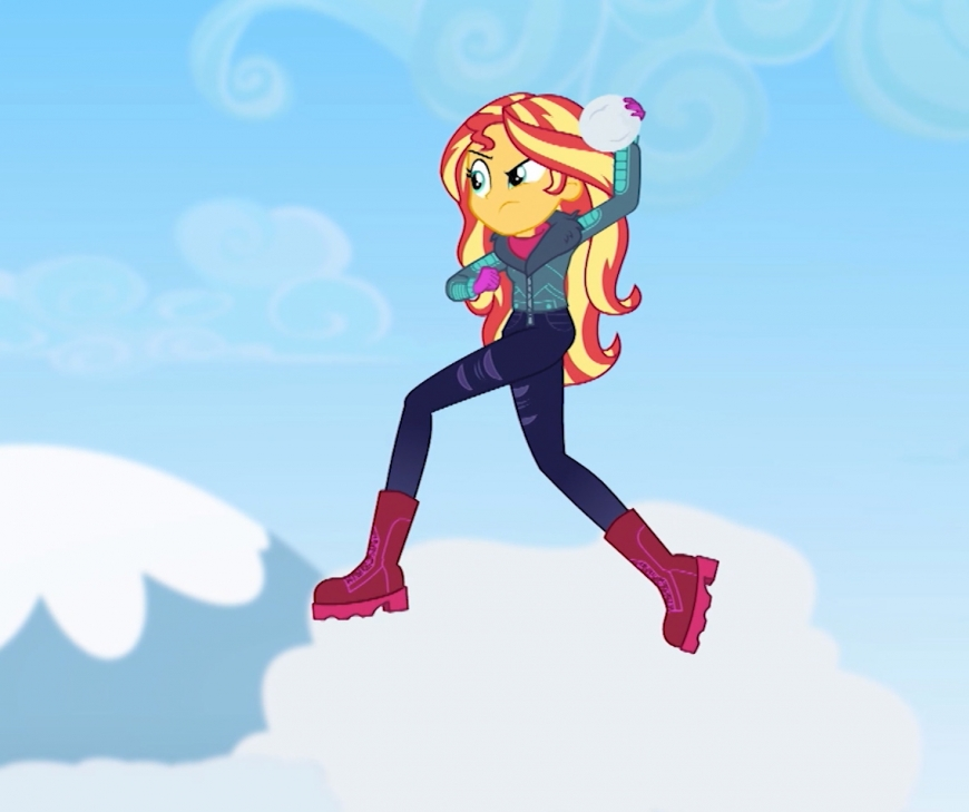 Equestria Girls Holiday Unwrapped Sunset Shimmer winter outfit
