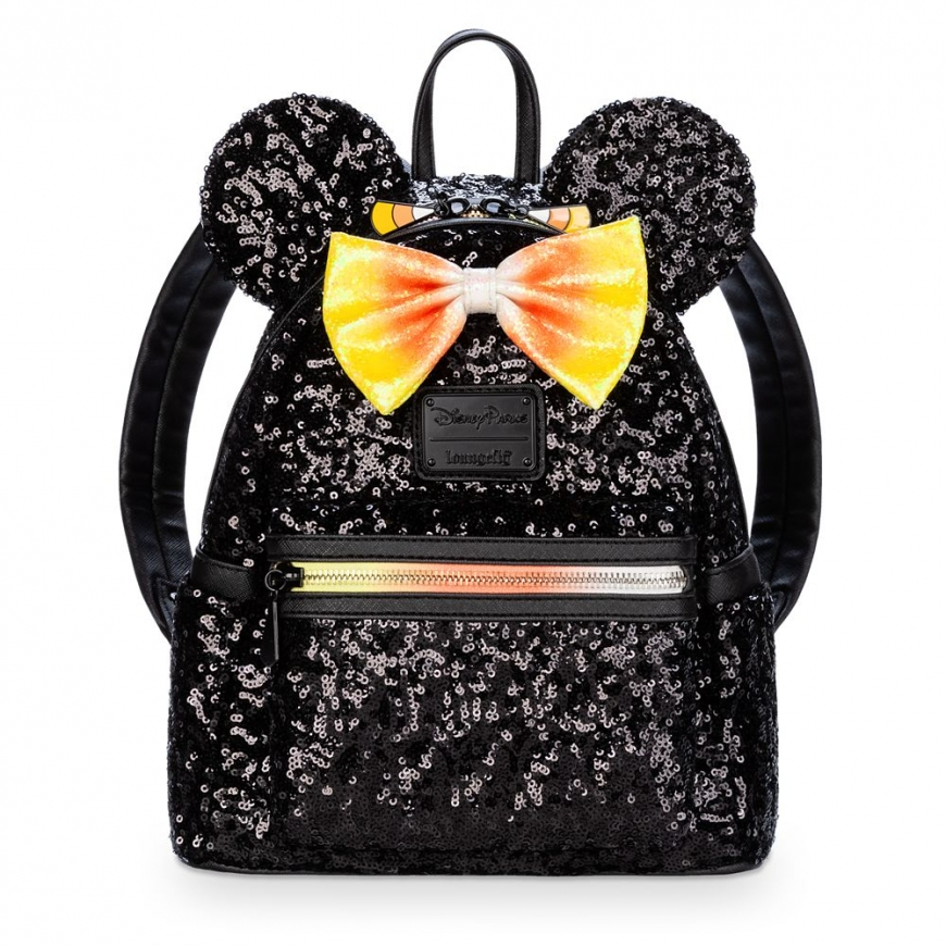 Minnie Mouse Sequin Mini Backpack by Loungefly – Halloween Candy Corn