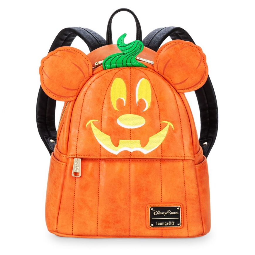 Disney Park Mickey Mouse Halloween Pumpkin Mini Backpack by Loungefly