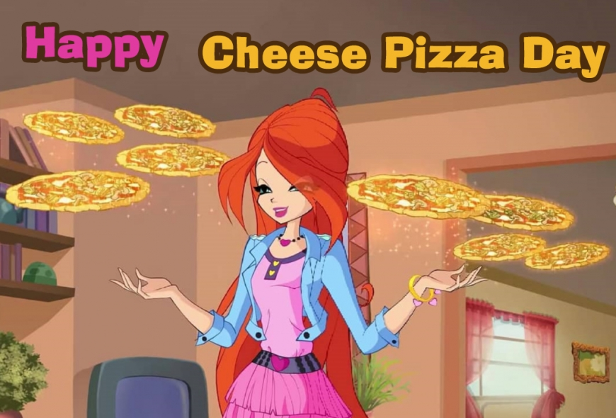 Happy Cheese Pizza Day with Winx Bloom image