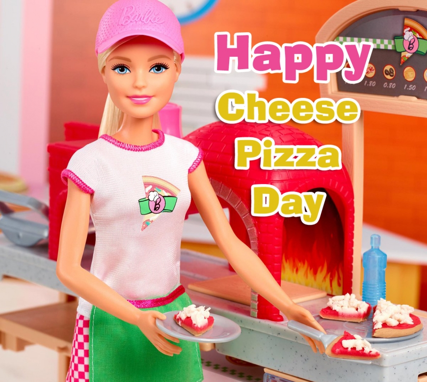 Happy Cheese Pizza Day with Barbie image