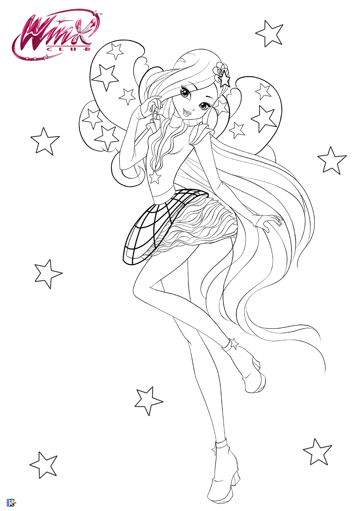 Winx Club Season 8 Coloring Pages With Cosmix Transformation Youloveit Com