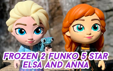 Frozen 2 Anna and Elsa Funko 5 star vynil figures