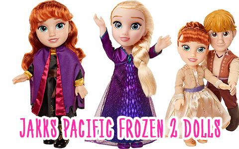 Kristoff, Elsa and Anna Frozen 2 JAKKS Pacific dolls