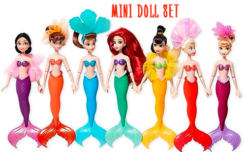 2019 The Little Mermaid 30th Anniversary Sisters Mini Doll Set with Ariel