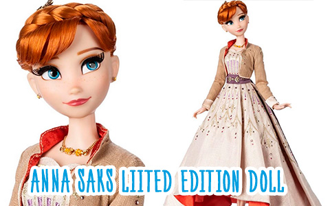 Disney Anna Frozen 2 SAKS Fifth Avenue Limited Edition doll