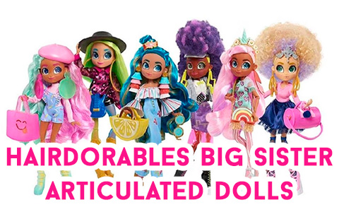 Hairdorables Hairamazing - new fashiondolls with articulation