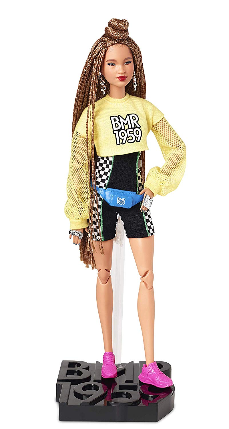 AA Barbie BMR1959 with Clear Vinyl Bomber Jacket /& Floral Hoodie Dress curvy NEW