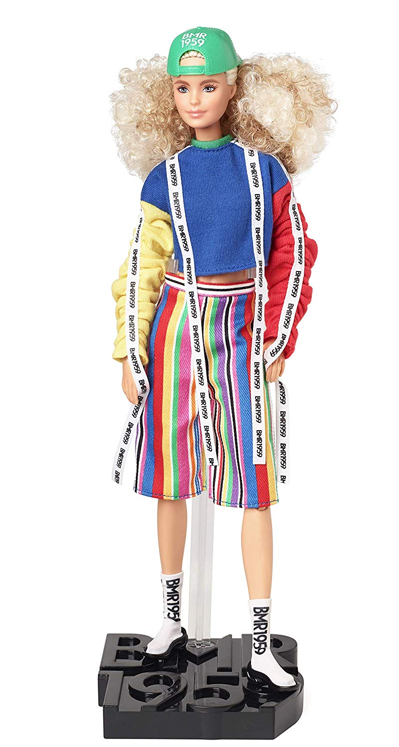 Barbie BMR1959 - Color Block Sweatshirt with Logo Tape & Striped Shorts