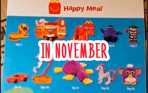 McDonalds retro Happy Meal toys for the week of November 7th-November 11th in USA