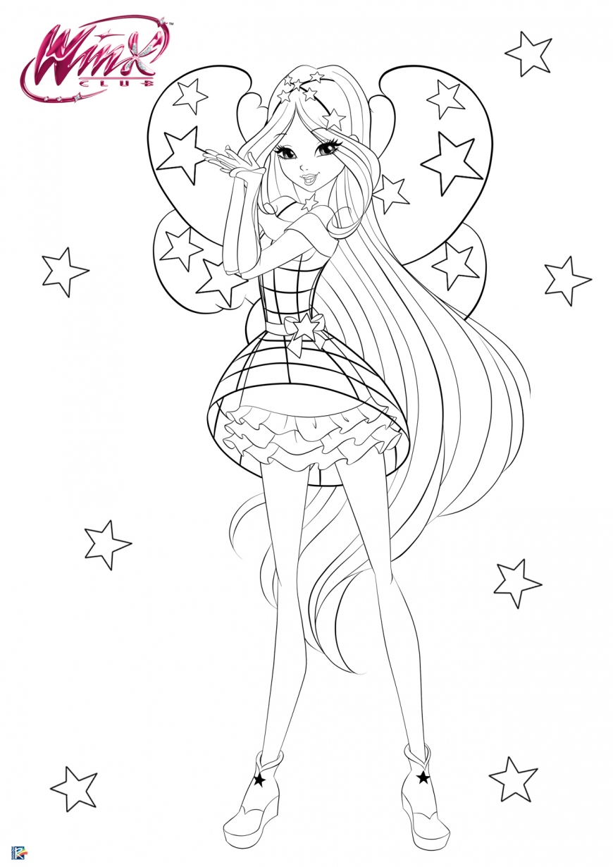 Winx Club season 8 Cosmix coloring page Flora